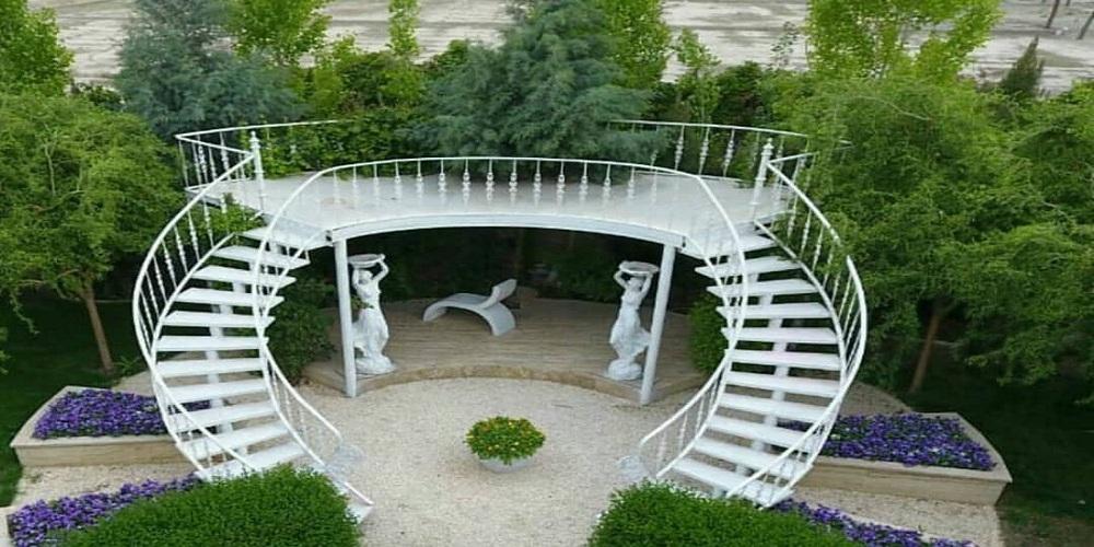 دکور باغ با آباژور آبنما پرنس