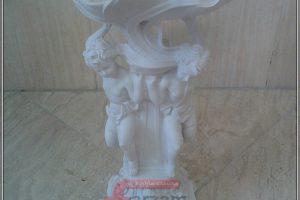 مجسمه پلی استر | آجیل خوری دو فرشته