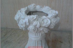 گلدان بوته رز فایبرگلاس