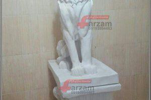 مجسمه شیر بزرگ فایبرگلاس