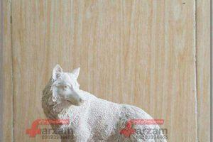 مجسمه گرگ فایبرگلاس   مجسمه حیوانات